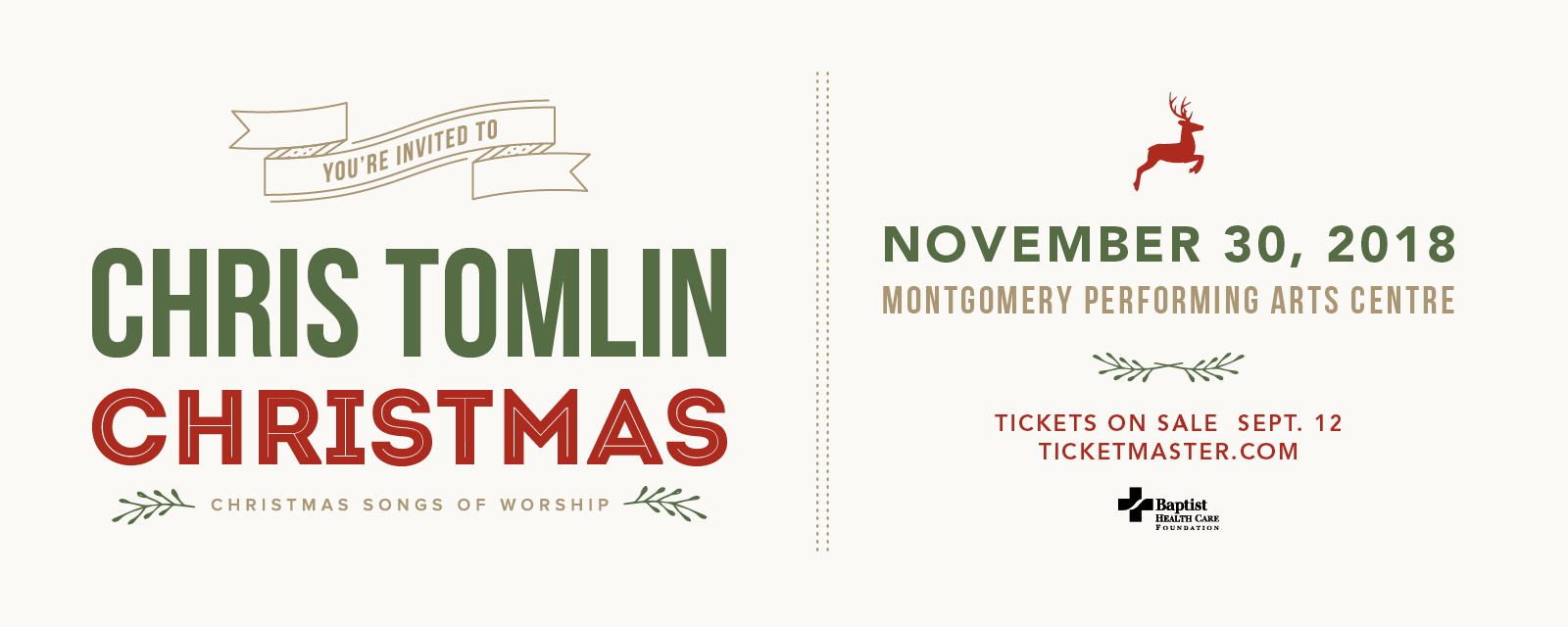 the baptist health care foundation proudly presents chris tomlin christmas