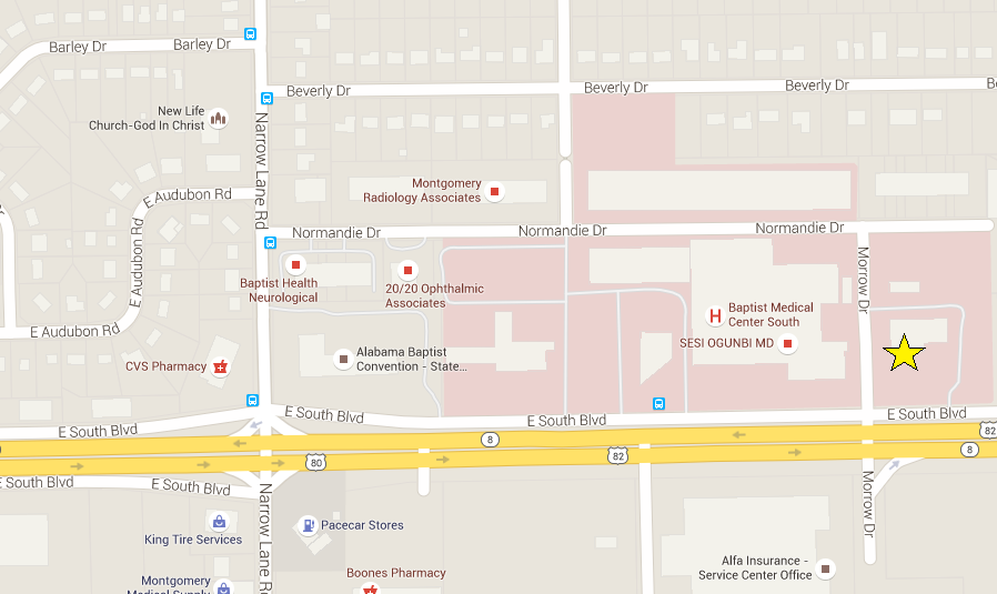 Map & Directions Montgomery, Alabama (AL), UAB Multispecialty Clinic